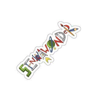 SensaWonder (letters) kiss cut sticker