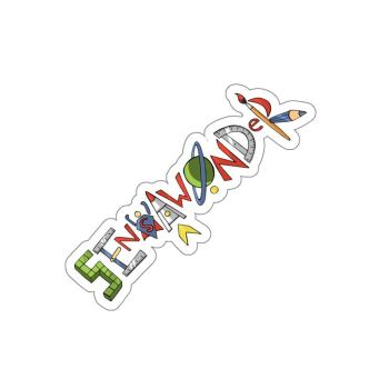 SensaWonder (letters) kiss cut sticker