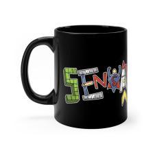 SensaWonder (letters) Black 11oz mug