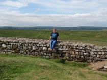 Sitting on Hadrian's Wall