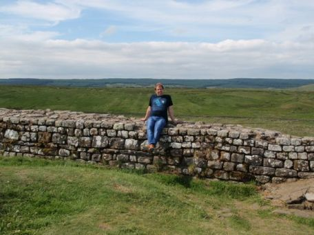 Sitting on Hadrian's Wall