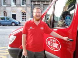 James and the Wee Red Bus