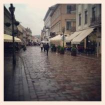 Vilniuas Gatve in the rain