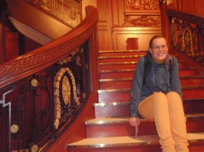 Monika on the Grand Staircase of the Titanic!
