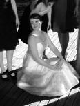 Tiina kneeling
