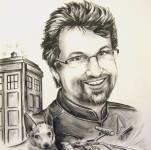 portrait with dog