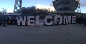 Atomium Welcome Sign