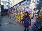 Maria wall of graffiti