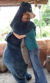 Daddy gets a hug!