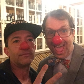 David and I as Red Nose Bandits