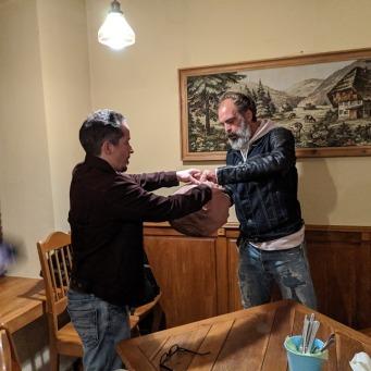 Landon gives Steven the head
