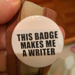 Badge makes me a writer